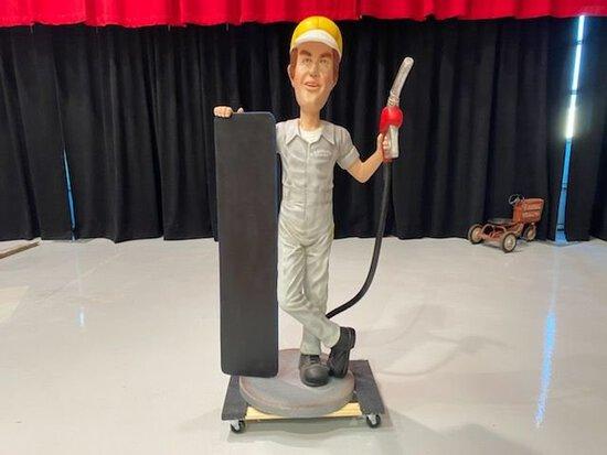 Gas Station Attendant Statue