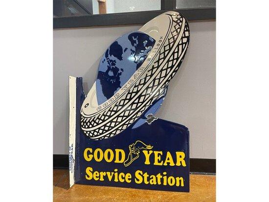 Porcelain Goodyear Service Station Flange