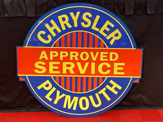 Chrysler Plymouth Approved Service Sign