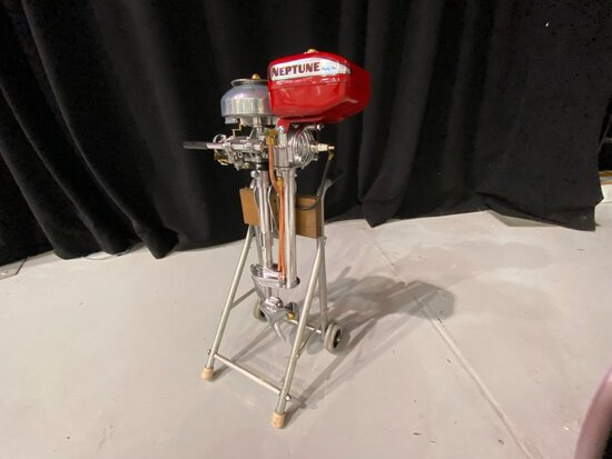 Vintage Neptune Outboard Motor - Red