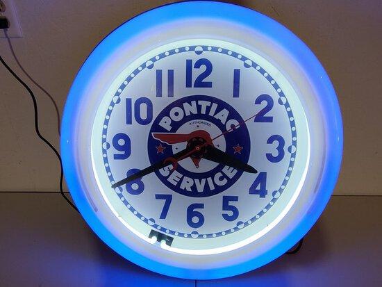 Pontiac Neon Clock