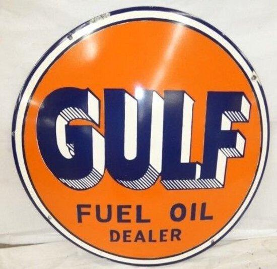 Porcelain Gulf Sign