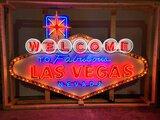 0 Welcome to Las Vegas Tin Neon Sign
