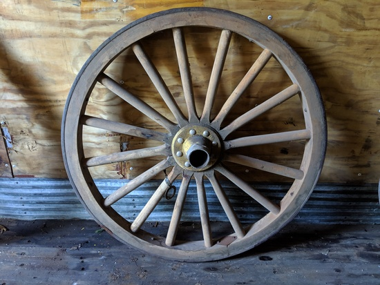 2 smaller wagon wheels