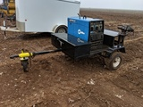 MILLER BOBCAT 225 AC/DC WELDER & 10,000 WATT GENERATOR ON TRAILER