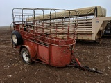8FT ONE HORSE TRAILER, BUMPER PULL, NO TITLE
