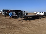 PJ Gooseneck Flat Bed Trailer w/ dovetail & Ramps