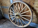2 LARGE ANTIQUE WAGON WHEELS