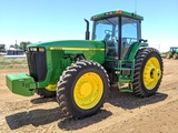 JOHN DEERE 8400 MFWD TRACTOR W/ DUALS POWERSHIFT TRANS, 3 SCV'S, SHOWING 2748 HRS, S/N-RW8400P002153