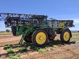 JOHN DEERE 4930 SELF-PROPELLED SPRAYER, 120FT BOOM, 1200 GALLON STAINLESS STEEL TANK, FENDERS, SHOWI