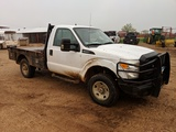 2011 FORD F350 W/ FLATBED & BRUSH GUARD, 115814 MILES, VIN-1FDBF3B60BEC77209