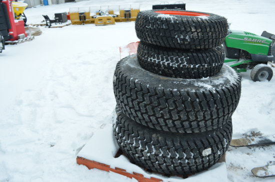 KUBOTA TURF TIRES & RIMS SET (4)