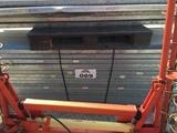 Skid of steel shelving
