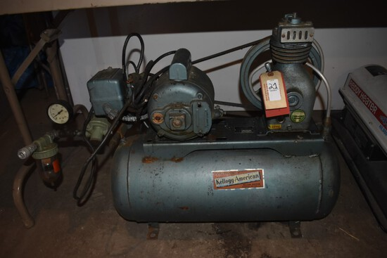 Kellogg American B130 C horizontal Air compressor
