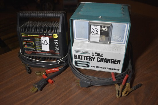 Napa 12V 6 amp battery charger and Silver Beauty 6 and 12 volt battery charger
