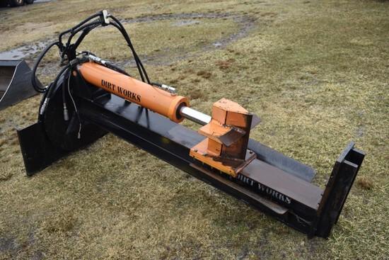 Dirt Works Skidsteer Attach Log Splitter