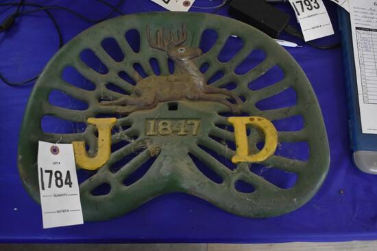 "John Deere ""JD 1847"" Painted Pan Seat"