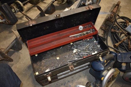 Craftsman Tool box with misc contents of hardware