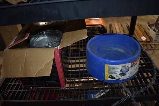 Heated water bowl and Hamilton