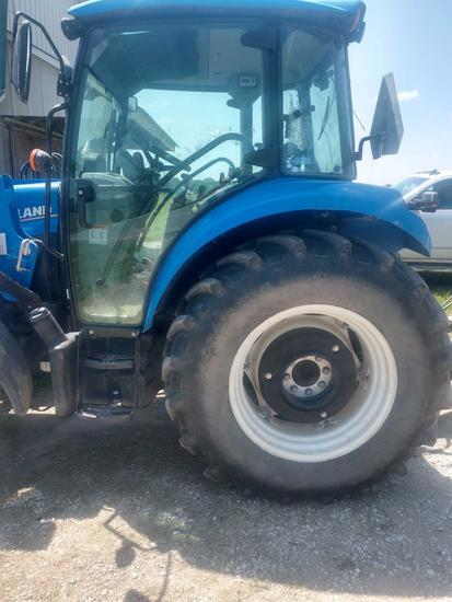 2015 New Holland T4.75 Tractor w/ 655TL loader and bucket