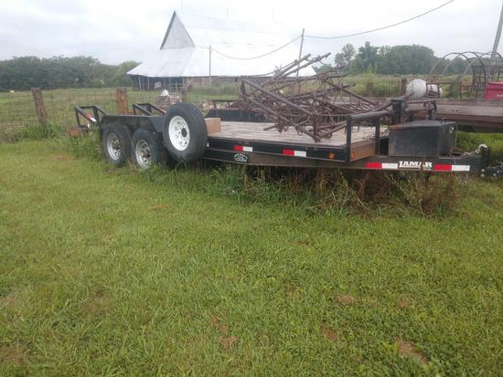 Lamar trailer 6801 bumper hitch with 2 7k axles 18ft w/2ft dove
