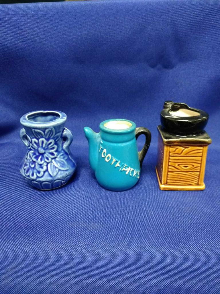 Pitcher, vase and pot on stand