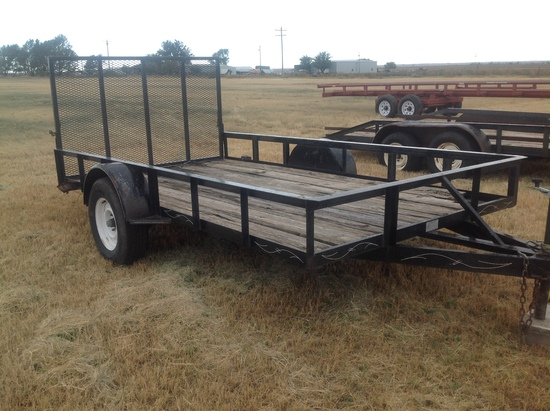 12Ft Single Axel Utility Trailer