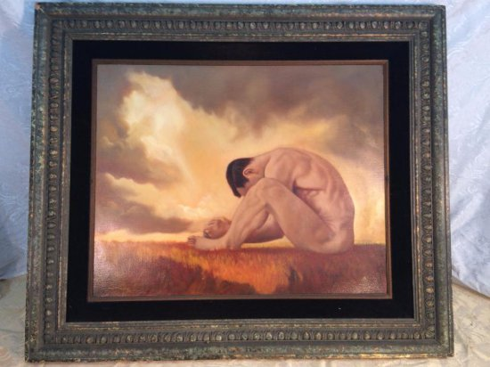 Large Roy Mosier signed oil painting
