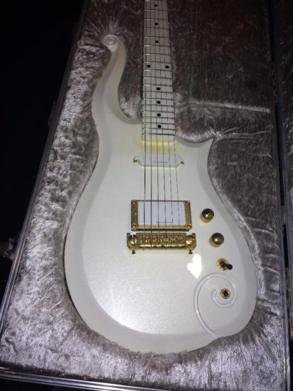 "Prince item - ""Cloud"" touring guitar with personal travel guitar case"