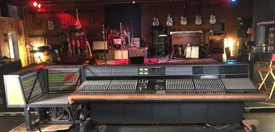 World famous Sunset Sound's AMEK APC 1000 analog mixing desk