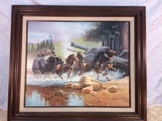 American west scene oil painting by Solenson