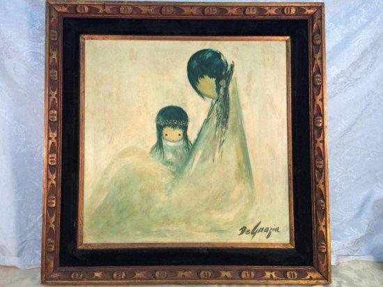 "Ted DeGrazia original oil on board ""Navajo Mother"""