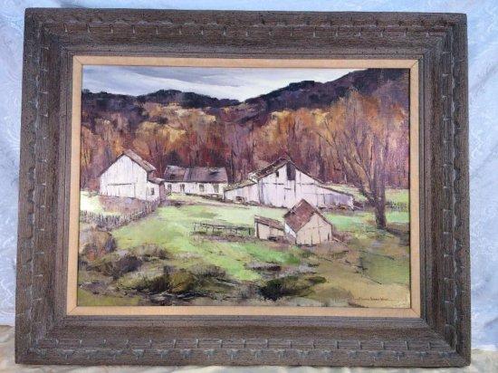 "Edward Norton ward oil on canvas ""Morning Light Big Sur"""