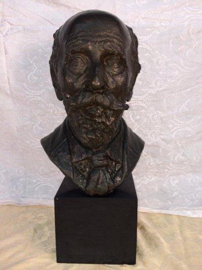 """Bronze bust sculpture signed """"Lloyd 1934"""""""