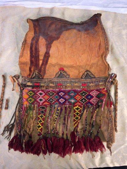 Authentic Native American Navajo water bag