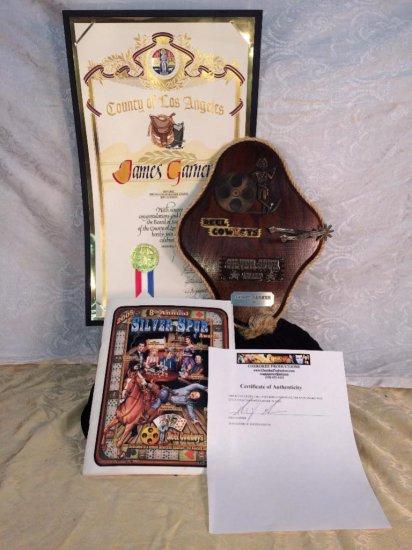 James Garner estate - Silver Spur Award Reel Cowboys 2005