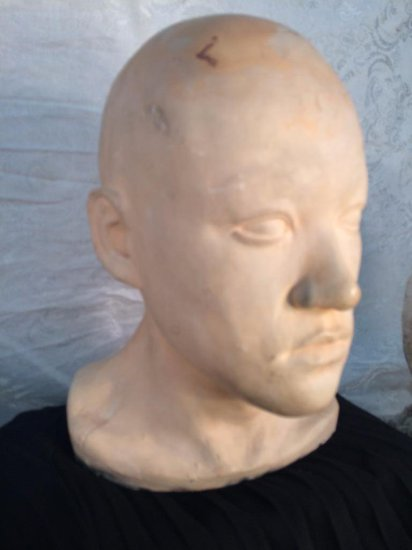 Incredible 1960's Bruce Lee head cast and mold for Green Hornet