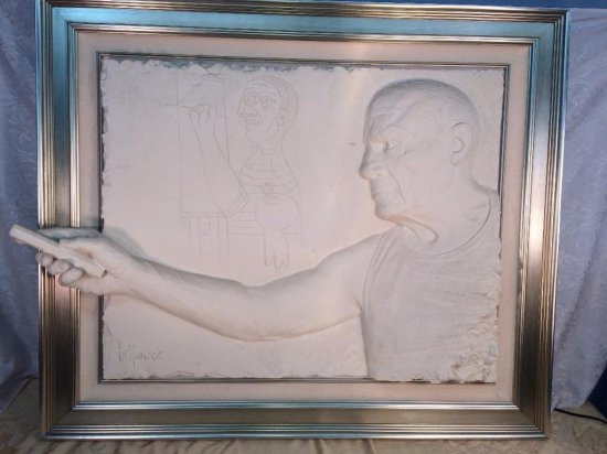 "Bill Mack large original sand sculpture -""Picasso"""