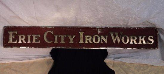 Cast Iron Advertising Sign