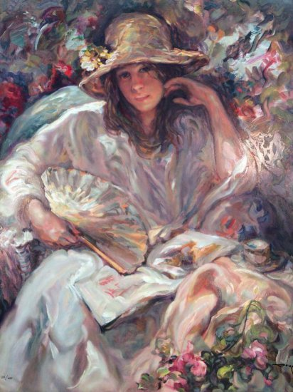 """Jose Royo Serigraph limited edition and  signed """"Sol y Sombras"""""""