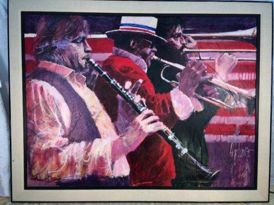 "Aldo Luongo signed large original oil on canvas ""To Dixieland"""