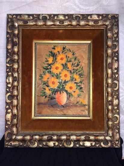 Original vintage oil painting by Joya