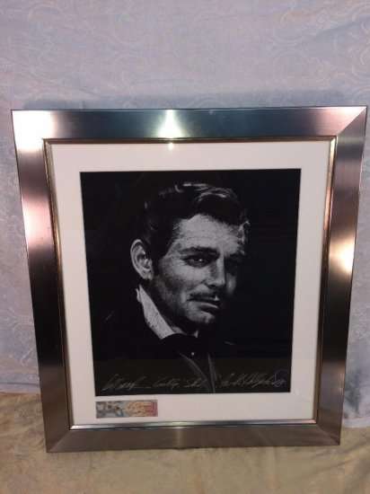 """Bill Mack rare """"Gable Study for The Hollywood Sign"""""""