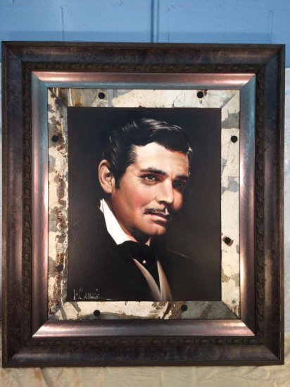 "Bill Mack Hollywood sign oil on canvas ""Clark Gable"" variation #1 - dated 2007"