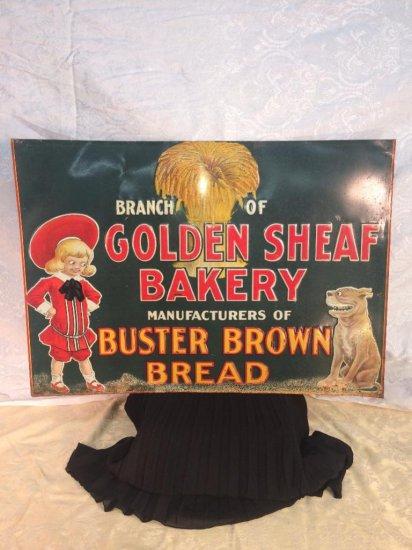 Golden Sheaf bakery sign - Buster Brown Bread