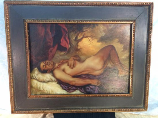 Small Roy Mosier signed oil painting