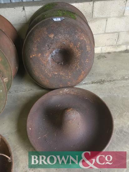 Quantity cast iron pig troughs