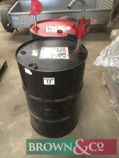 Quantity engine and hydraulic oil