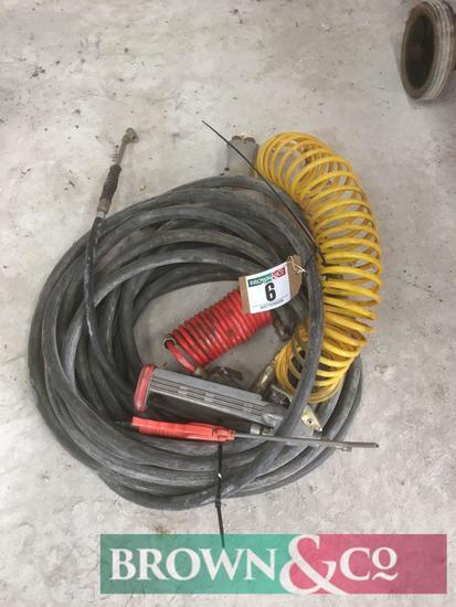 Quantity air tools and hose