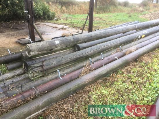 Quantity telegraph poles